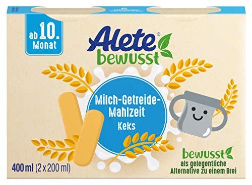 Alete bewusst Milch-Getreide-Mahlzeit Keks, ab dem 10. Monat, 400 ml