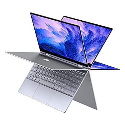 """BMAX Y13 13.3"""" 2 in 1 Convertible Laptop, FHD(1920 x 1080) Touchscreen , 8GB DDR4, 256GB SSD, Intel Quad Core N4120, WiFi, Bluetooth, USB-C, Windows 10, Thin and Light All-Metal Body, Space Grey"""
