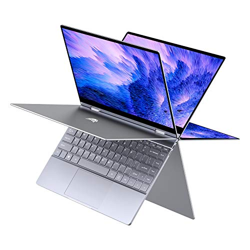 "BMAX Y13 13.3"" 2 in 1 Convertible Laptop, FHD(1920 x 1080) Touchscreen , 8GB DDR4, 256GB SSD, Intel Quad Core N4120, WiFi, Bluetooth, USB-C, Windows 10, Thin and Light All-Metal Body, Space Grey"