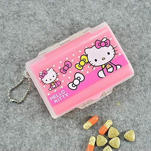 New Cute Cartoons Hello Kitty Pill Organizer Box, Medicine Bandage Vitamin Storage Case for Children Home and School Use