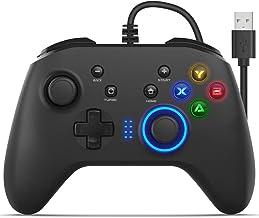 کنترل کننده بازی با سیم برای رایانه های شخصی Windows 7/8/10 ، Dual-Vibration ، USB Joystick Gamepad Controller Game Controller