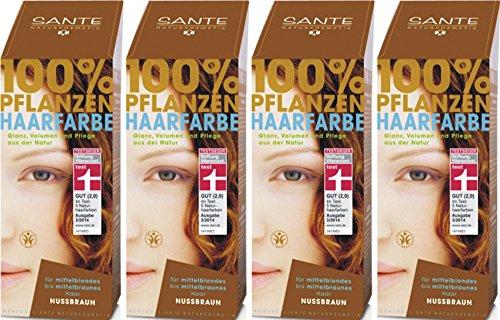 Sante - Tinte para pelo de caballo, color nogal, 4 x 100 g