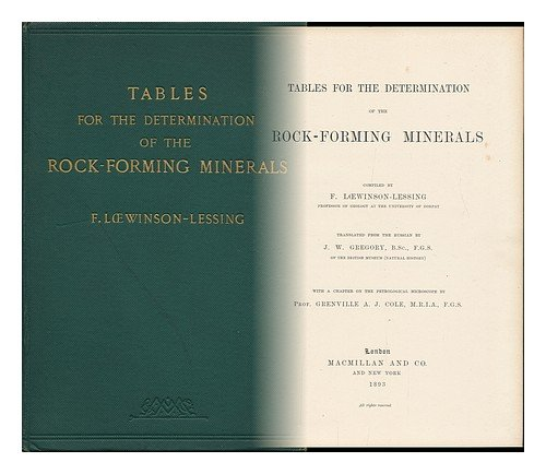 Tables for the determination of the rock-forming minerals,