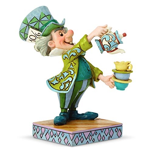 Enesco Disney Traditions by Jim Shore Alice in Wonderland Mad Hatter Figur, Steinharz, Mehrfarbig, 4.92 Inch