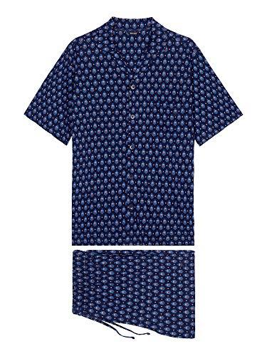 HOM Herren Short Sleepwear 'Frioul' - Navy Print - 2XL