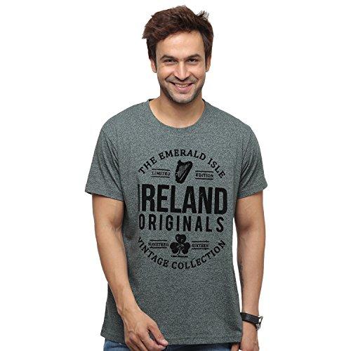 Keltic Legend Ireland Originals Emerald Isle-T-Shirt mit Grünem Garn-Design