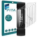 FITA [6 Stück] Schutzfolie Kompatibel mit Fitbit Inspire 2 Displayschutzfolie (Not for Inspire/Inspire HR), 99.99% HD Sanft Folie für Inspire 2 Fitness Tracker [Vollabdeckung] [Anti-Kratzen]