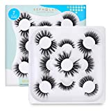 BEPHOLAN Eyelashes,7 Styles Faux Mink Lashes For Makeup,100% Handmade Soft Thick Lashes,Reusable Volume Fluffy Natural 5D False Eyelashes |Mixed