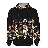 T-Oca Bo_Ca Salon Casual 3D Digital Print Hoodie Shirt Pocket Boy and Girl Teen Hooded Sweater Sweatshirt