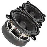 Pair Faital PRO 3FE25 3' Midrange Full-Range Woofer Speaker 8 ohms 40W 91dB