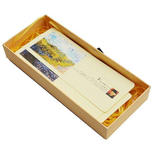 Segnalibri della pittura classica di Van Gogh, souvenir creativi di piccola classe, regalo in confezione regalo