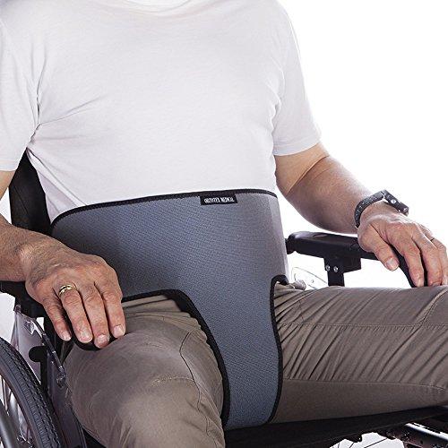 Perineale buikgordel, voor rolstoelen, stoelen of fauteuils, voor mensen die de neiging hebben om van de stoel te glijden,