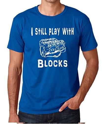 Crazy Bros Tees CBTWear I Still Play with Blocks - Camiseta para Hombre - Multi - Small