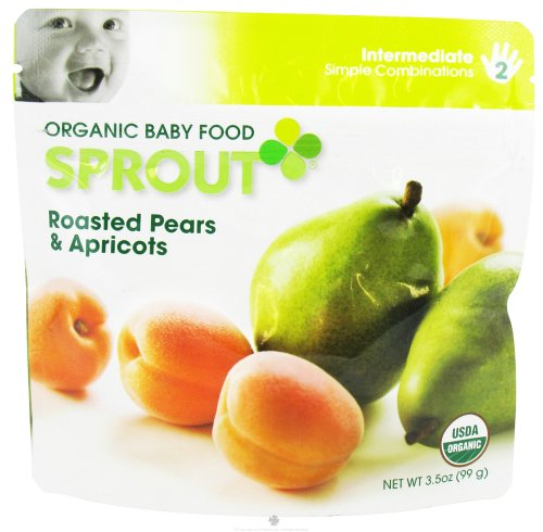 Sprout Organic Baby Food Roasted Pears and Apricots Intermediate 2-3.5 oz