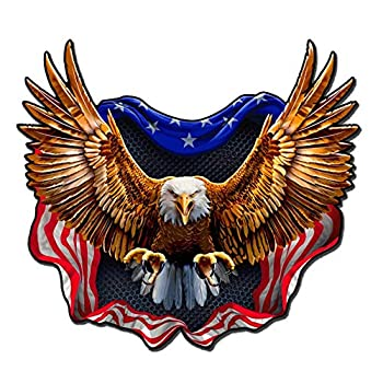 Built USA Bad Ass Eagle American Flag Decal | Permanent | Waterproof Durable American Flag Car Motorcycle Bicycle Skateboard Laptop Luggage Bumper Vinyl Decal - 12  - 1 Pack