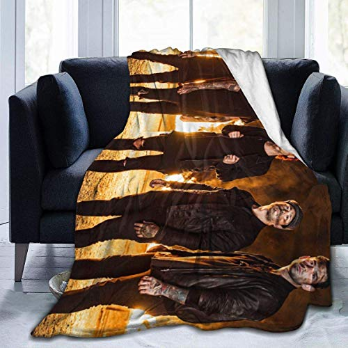 XCNGG Mantas de Cama Mantas de Siesta Mantas de Aire Acondicionado Sleeping with Sirens Home Warm Blanket Luxury Super Soft Flannel Large Size Living Room Bedroom