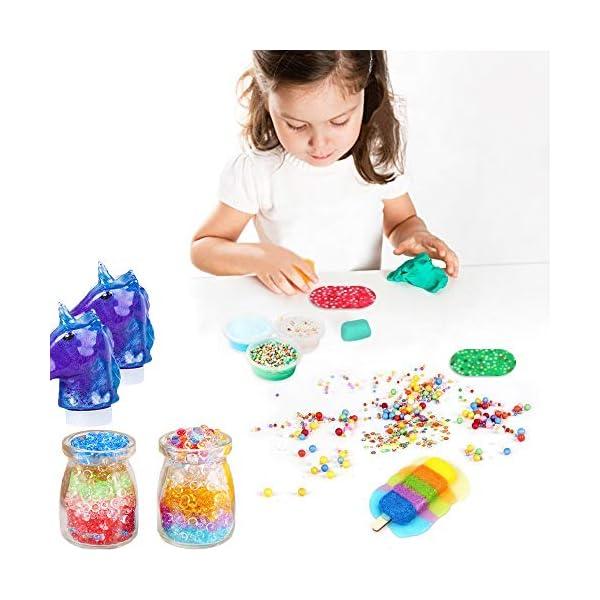 Unicorn Slime Kit - Slime Supplies Slime Making Kit for Girls Boys, Kids Art Craft, Crystal Clear Slime, Glitter… 8