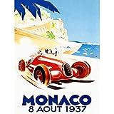 Racing Car Monaco 1937 Grand Prix Unframed Art Print Poster