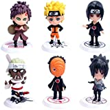 Cake Topper - YUESEN 6pcs Naruto Mini Juego de Figuras Niños Mini Juguetes Baby Shower Fiesta de cum...