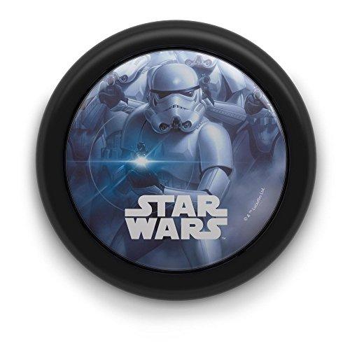 Philips Star Wars Soldado Imperial - Luz nocturna, encendido y apagado, luz blanca cálida, bombilla LED de 0.3 W, color negro