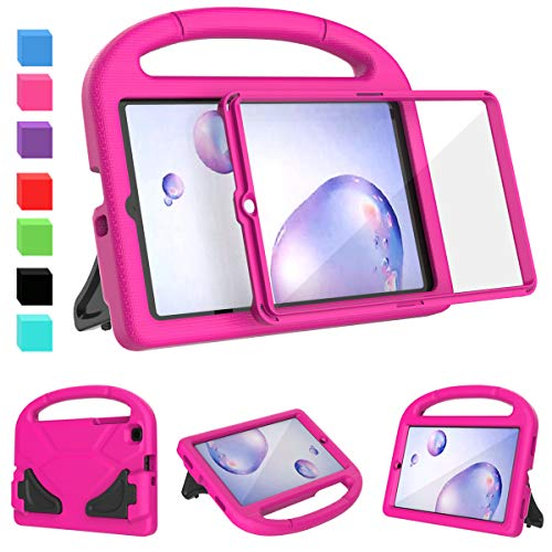 AVAWO Kids Case for Samsung Galaxy Tab A 8.4 SM-T307 (2020) - Built in Screen Protector - Shock Proof Lightweight Convertible Stand Kids Friendly Case for Galaxy Tab A 8.4-inch Release in 2020, Rose