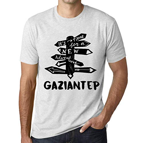 Hombre Camiseta Vintage T-Shirt Gráfico Time For New Advantures Carrefour Blanco Moteado