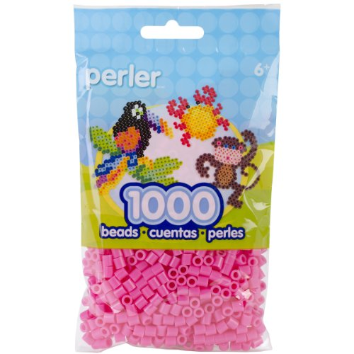 Perler Beads Fuse Beads for Crafts, 1000pcs, Pink