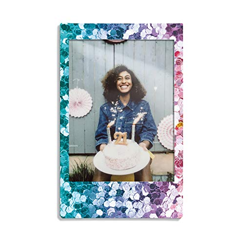 instax Link Smartphone Printer, Dusky Pink & Mini Confetti Glass Film, Bunt metallic