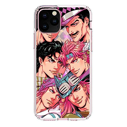 QNNN Transparent Silicone TPU Shockproof Clear Case Compatible with Apple iPhone 11 Pro MAX-Jojo-Bizarre Stardust-Crusaders 7