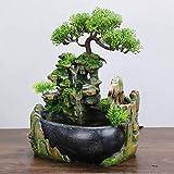 Miwaimao Cascada de Fuente de Escritorio de relajación Interior, función de Cascada Interior de meditación Zen con Bomba automática, decoración de Escritorio de Dormitorio de Oficina en casa