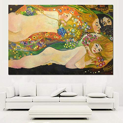 No frame Beste Gustav Klimt kus kunst muur print op canvas schilderijen voor home decor idee olieverf kunst 60x90cm