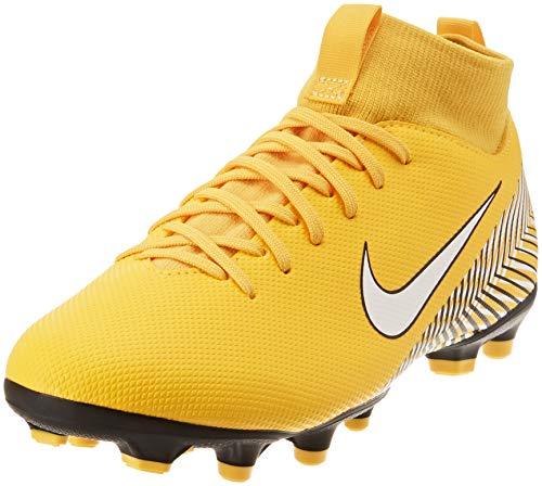 Nike JR SUPRFLY 6 Academy GS NJR MG, Scarpe da Calcetto Unisex-Bambini, Giallo (Amarillo/White-Black 710), 38 EU