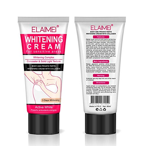 Onkessy Body Cream Crema aclaradora de piel para piel, cuello, bikini, muslos y zonas sensibles