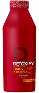 Detoxify Ready Clean Herbal Cleanse – Orange Flavor– 16 oz | Professionally Formulated Herbal Detox Drink | Enhanced with Milk Thistle Seed Extract & Burdock Root Extract
