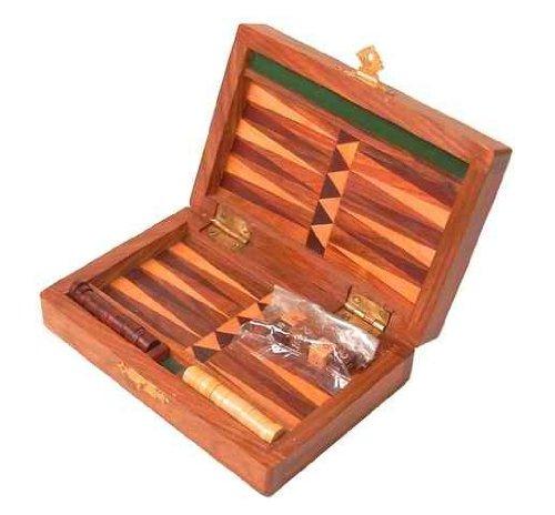 Backgammon aus Holz 15 x 21 cm - Holz-Spiel, Tavli