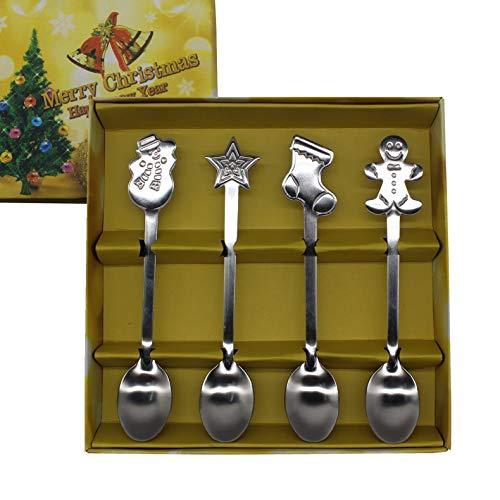 Regalo de fiesta de Navidad, cuchara de café, cuchara mezcladora, cuchara de té, cuchara de batido, cuchara de hielo, cuchara de leche, cuchara de helado, cuchara de postre