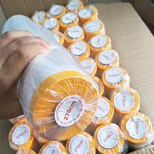 AWSAD Rollos de Plastico Lámina Plástico con Cinta Funda de Sofá Respirable Durable Sin Rastro Cocina Cama Guardarropa Película Protectora 8 Especificaciones (Color : Clear, Size : 2.7MX10M)