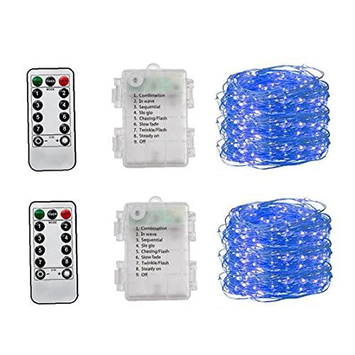 LED Fairy Light Waterdicht 5m 50 LED's Cooper Draad String Lamp Decor (geen batterij) 2pcs Blue String Light