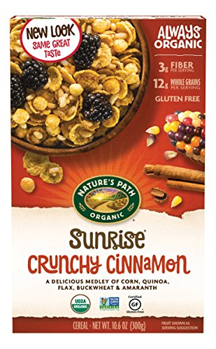 Nature's Path Organic Gluten-Free Cereal, Crunchy Cinnamon Sunrise, 10.6 Ounce Box (Pack of 6)