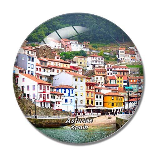 Imán de nevera 3D de España Asturias para pizarra blanca imán de cristal de recuerdo