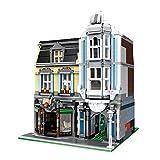 ColiCor Modelo de Construcción de Bloques 2678 Piezas Casa de la Esquina Construcción Edificio de Ladrillos Creativo Conjunto de Bloques, Compatible con Lego