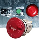 Druckknopfschalter Not-Aus-Knopfschalter Rost- und korrosionsbeständiger Edelstahl für elektromagnetischen Starter für Schütz für Relais