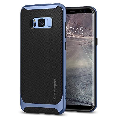 Spigen 565CS21598 Neo Hybrid für Samsung Galaxy S8 Hülle, Zweiteilige Handyhülle Modische Muster Silikon und PC Rahmen Schutzhülle Case Blue Coral