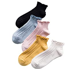 Material: Cotton Soft and comfortable Lovely Lace Socks for you everyday. Candy color, having good elasticity.