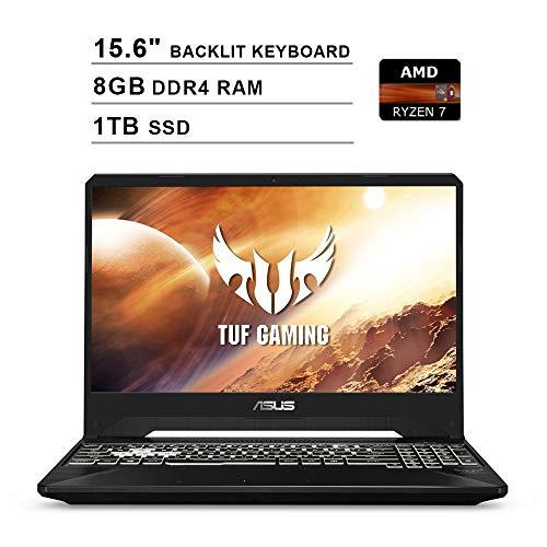 ASUS 2020 TUF 15.6 pulgadas FHD IPS Gaming Laptop (AMD Ryzen 7 R7-3750H hasta 4.0 GHz, 8GB RAM, 1TB SSD, NVIDIA GeForce GTX 1650, teclado RGB retroiluminado, Bluetooth, WiFi, HDMI, Windows 10)