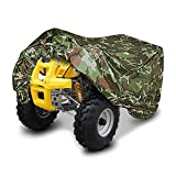 VVHOOY Camouflage ATV Cover Waterproof ATV Protection Cover All Season Outdoor Winterproof Dust Rain UV Protection Storage Protect Rain Cover Universal for ATV Vehicle Scooter Motorbike Quad Bike