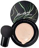 Mushroom Head Foundation Natural, Mushroom Head Air Cushion CC Cream, Concealer Moisturizing Makeup BB Cream, Long Lasting Matte Foundation for Perfect Coverage & Moisture (Ivory White)