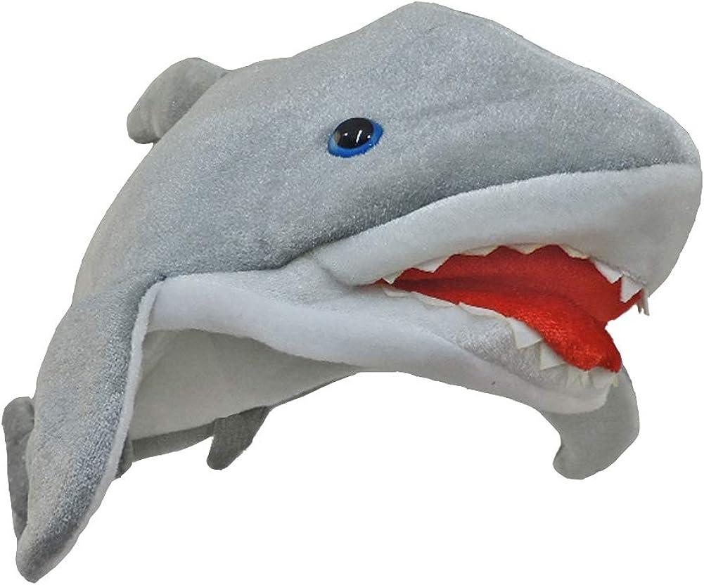 Plush Killer Shark Jaws Directly managed store Hat Over item handling Costume White Great