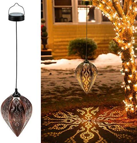 2 Pack Hanging Solar Lanterns OxyLED Solar Garden Lights Outdoor LED Lanterns Solar Powered product image