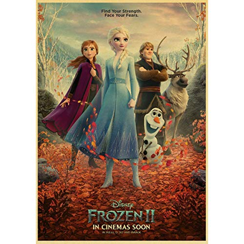 No Cartoon Movie Frozen 2 Carteles E Impresiones Art Canvas Painting Wall Poster para Home Bar Kids Room Decor 50X70Cm Sin Marco